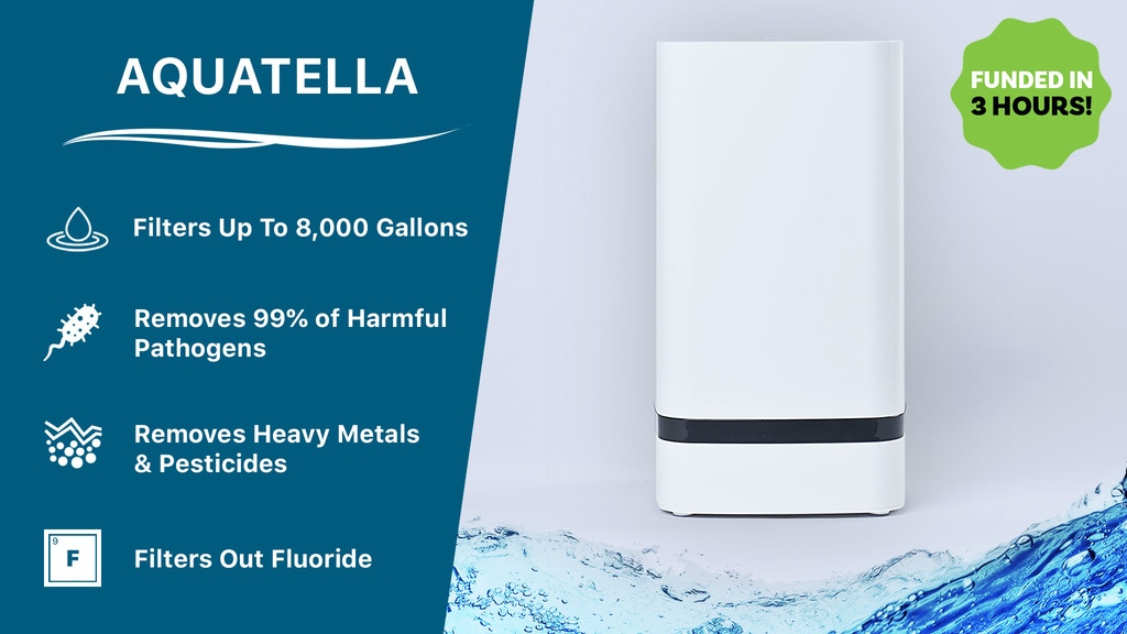 The Most Powerful & Affordable Water Filter | Aquatella project video thumbnail