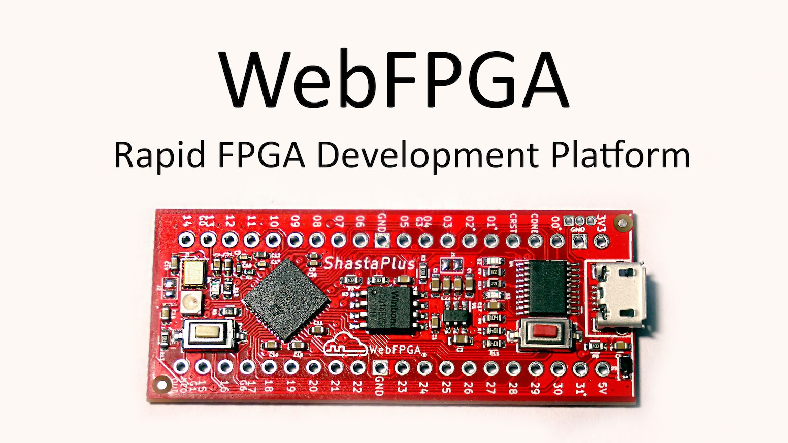 WebUSB programmable FPGA development boards. Cloud-based synthesis.