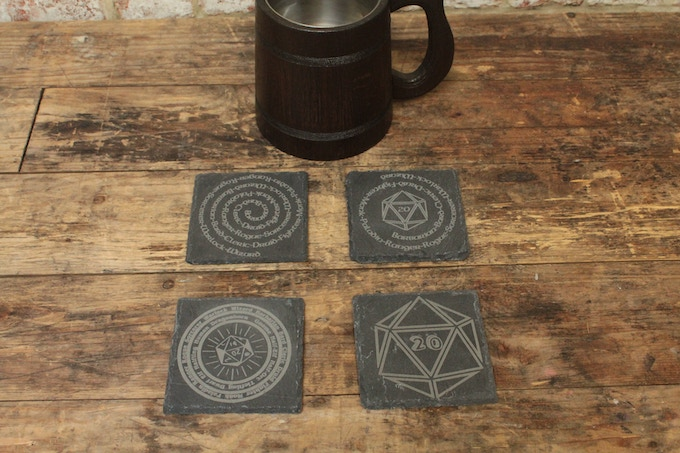 D&D Coaster Set (Tankard Not Included)