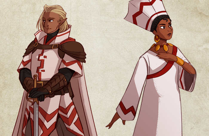 A paladin and cleric from Taevara