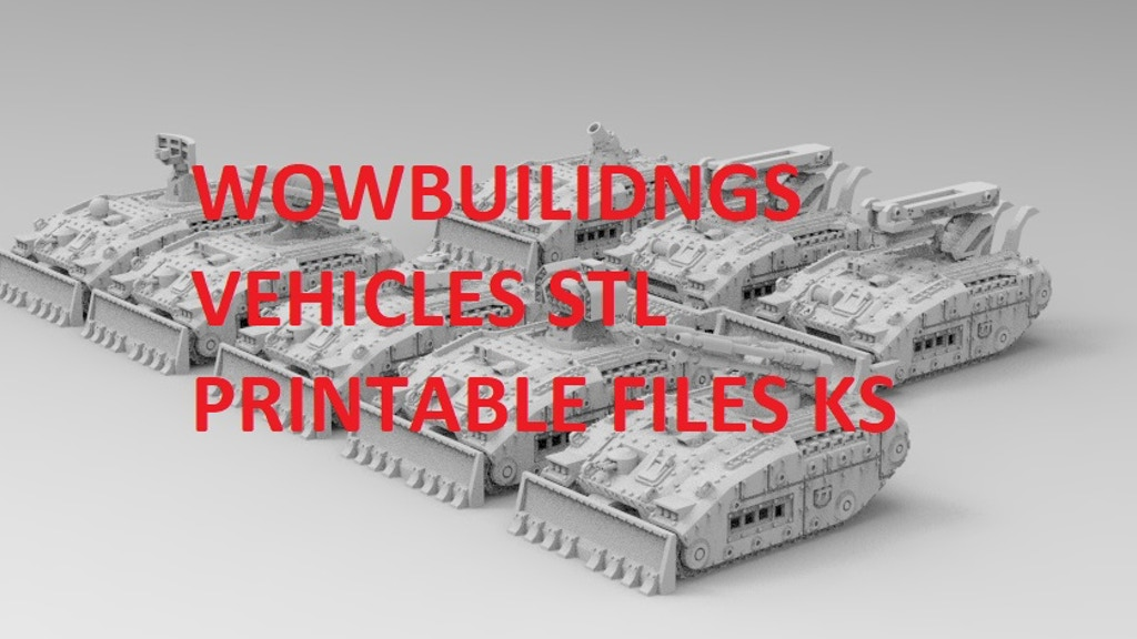 Project image for WOWBuildings Sci Fi Vehicle Expansion 3D STL Files