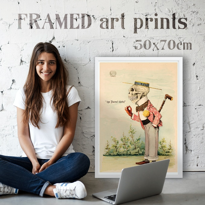 Framed Art Prints in white or black Alder, semi-hardwood frame with Acrylite front protector!