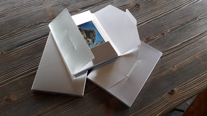 The Postcard Box. Example in silver from a previous project.