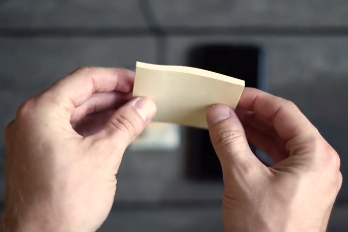 I'm not sure why you would ever need to charge through a stack of post-its....but...now you know it's possible!