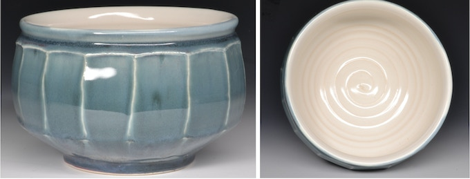 """Faceted Serving Bowl  4.5"""" x 6.5""""  $45"""