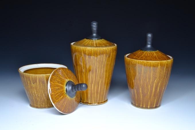 Honey Amber Jar set: Assorted Sizes  $75
