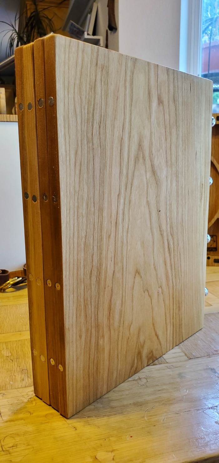 Master Screen LT stowed. Made of American Cherry Hardwood