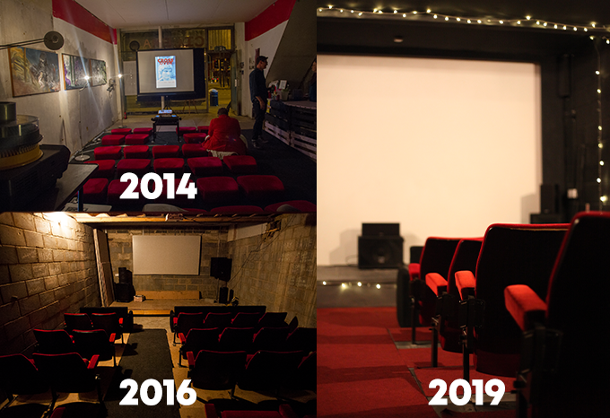 Deptford Cinema's growth through the years.