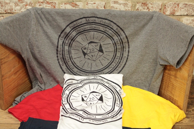Fandomonium D&D T-Shirts- Just some of the colours available!