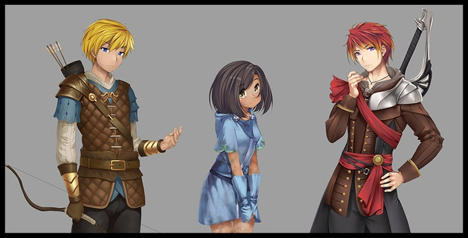 Examples of some minor character designs.