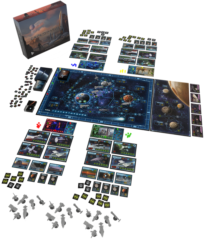 Game set up for 4 players