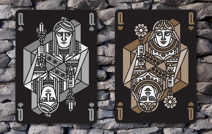 Queen of Clubs (Skadi) & Queen of Hearts (Freyja)