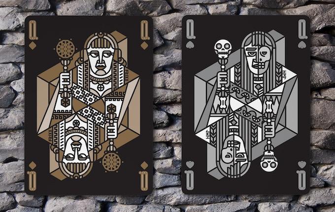 Queen of Diamonds (Frigg) & Queen of Spades (Hel)