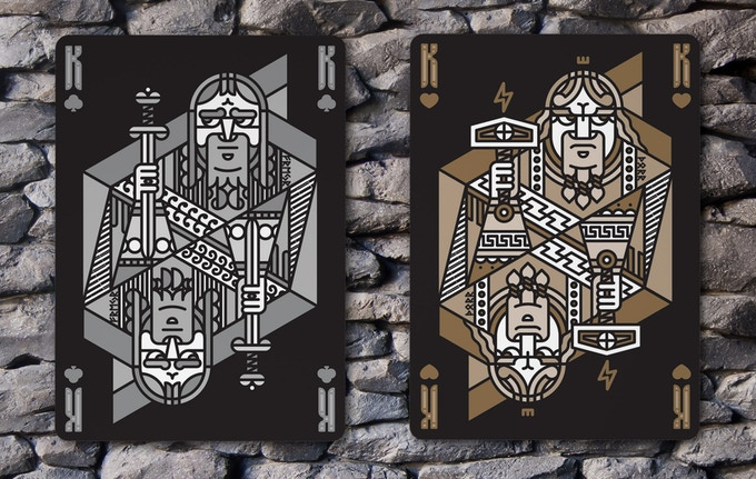 King of Clubs (Freyr) & King of Hearts (Thor)