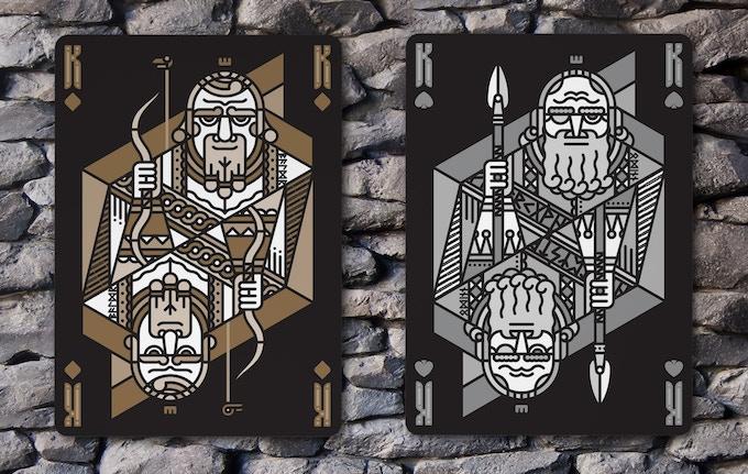 King of Diamonds (Baldr) & King of Spades (Odin)