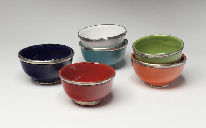 Bowl with metal rim/Marrakech ($135)