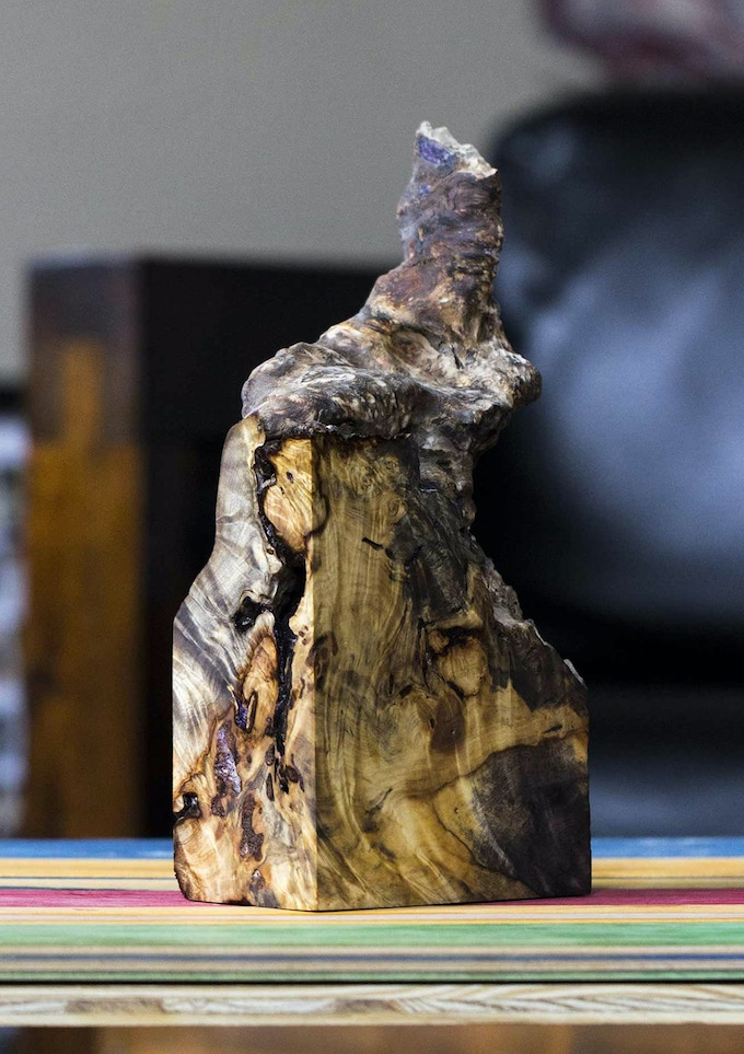 A burl piece, stabilized and ready for resin!