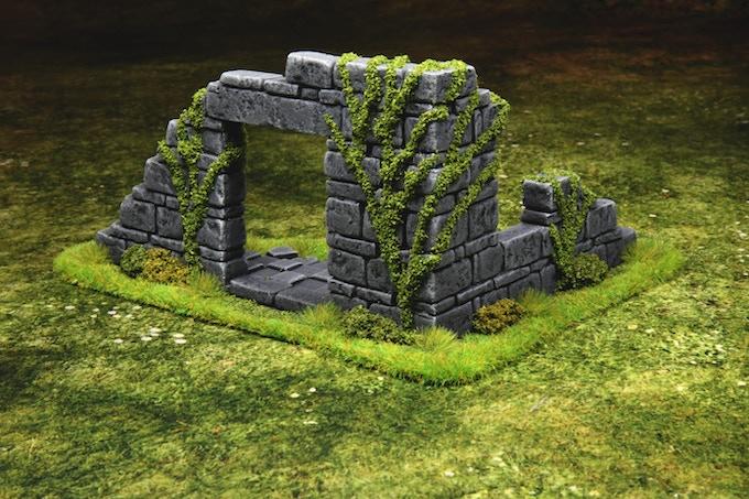 Big corner ruin Based & flocked green version