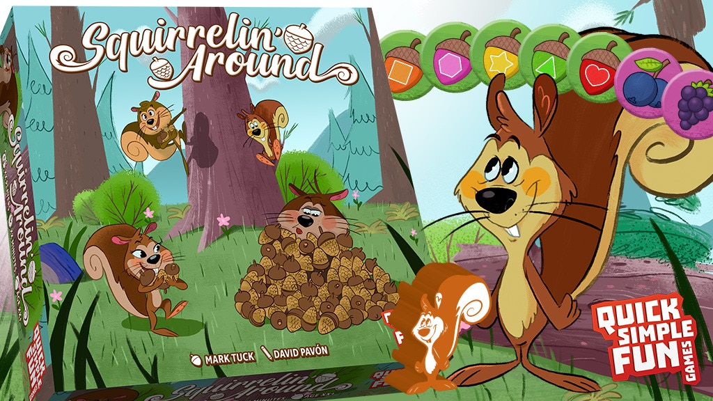 Squirrelin' Around - A Fun Dexterity Game for 2-4 Squirrels project video thumbnail