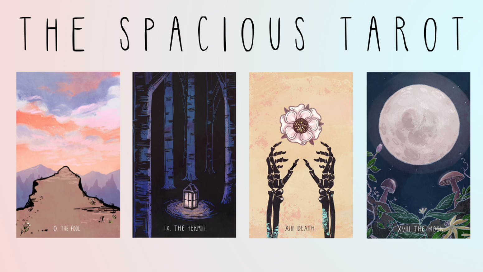 An immersive 78 card tarot deck and guidebook, created by Annie Ruygt and Carrie Mallon.