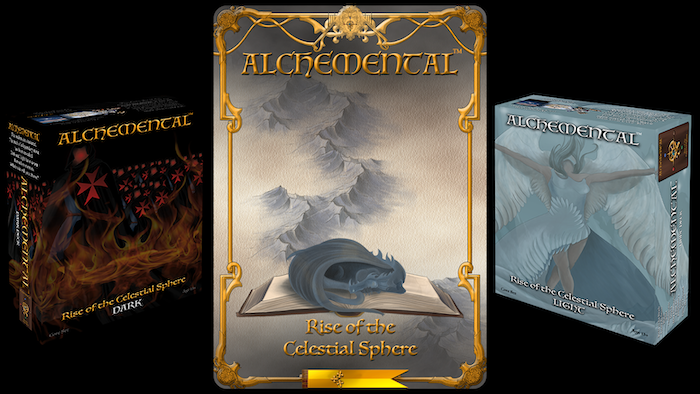 Battle typhonn. Collect Alchemics. Forge the Philosopher's Stone. A lighter weight strategy and battle driven fantasy game enjoyable for 2-8 players. The Celestial Throne is empty. Will it be you who claims it?