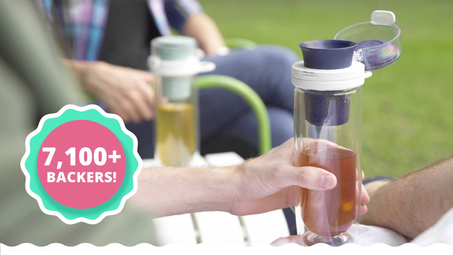 Effortlessly brew and drink delicious loose-leaf tea at home or on-the-go with Mosi Tea's patent pending, multisensory tea infuser.