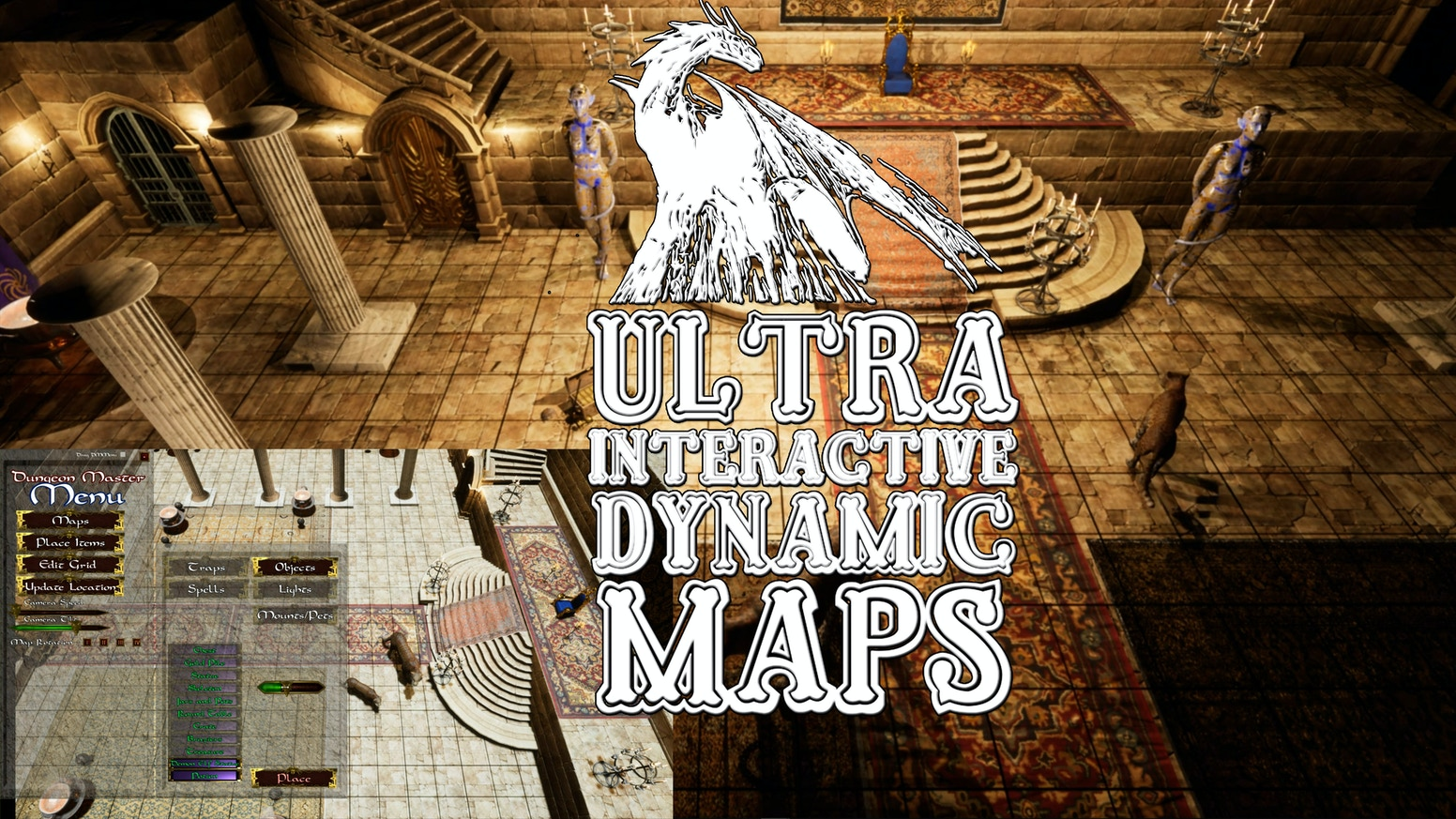 Interactive Dynamic Digital Maps for Table Top Role Playing Games