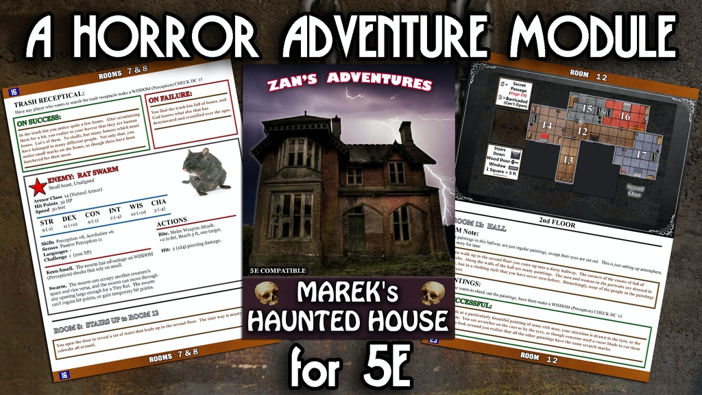 An 5E DnD RPG Module Conversion of Marek's Haunted House project video thumbnail