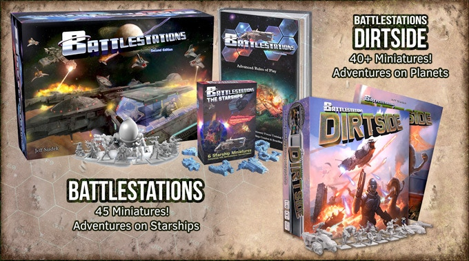 Battlestations has received worldwide acclaim.  Now it is time for Battlestations: Dirtside.