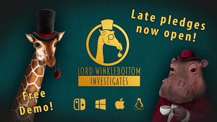 A 1920s murder mystery, point and click adventure featuring a dashing giraffe detective for Nintendo Switch, Windows, MacOS and Linux! Pledge Manager now open for late backers.