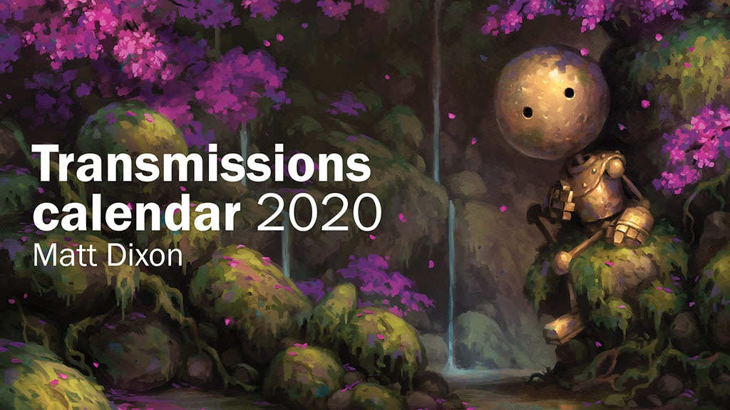 Transmissions robot art calendar 2020 project video thumbnail