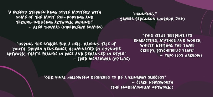 Snippets from the first reviews for Our Final Halloween #2