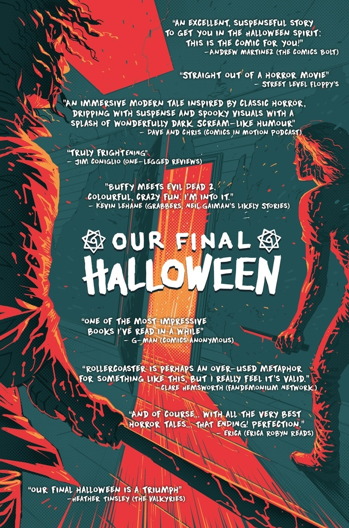 Pull-quotes from Our Final Halloween #1