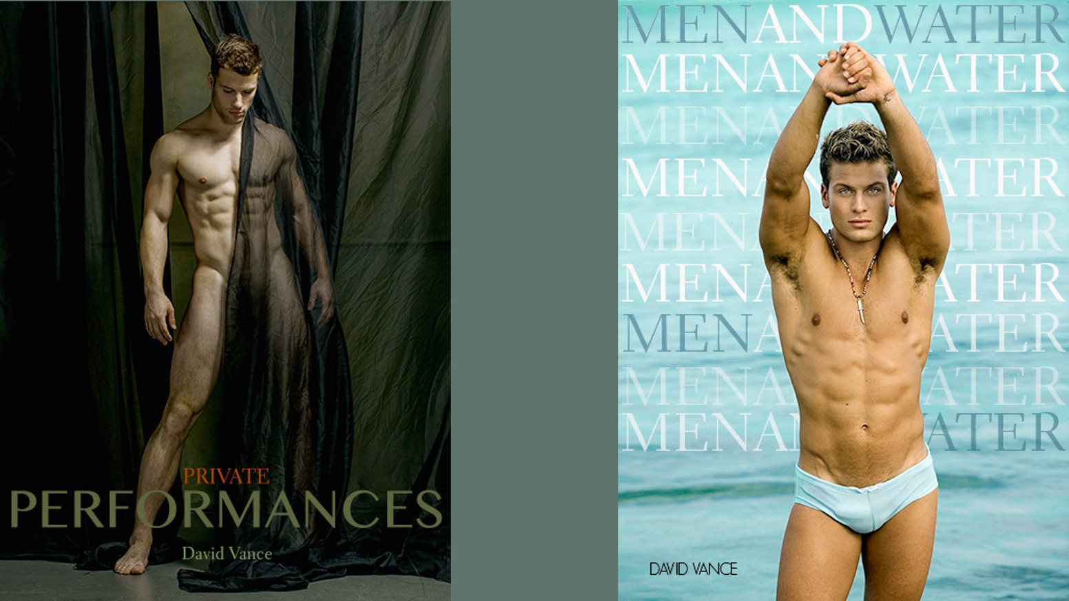 Two fine art coffee table books, one large format PRIVATE PERFORMANCES and one smaller format, MEN AND WATER.If you missed the deadline, you can still pre-order books . Follow the link below.