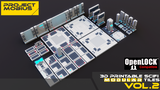 3D Printable SciFi OpenLOCK Compatible Tiles for Gaming Vol2 thumbnail