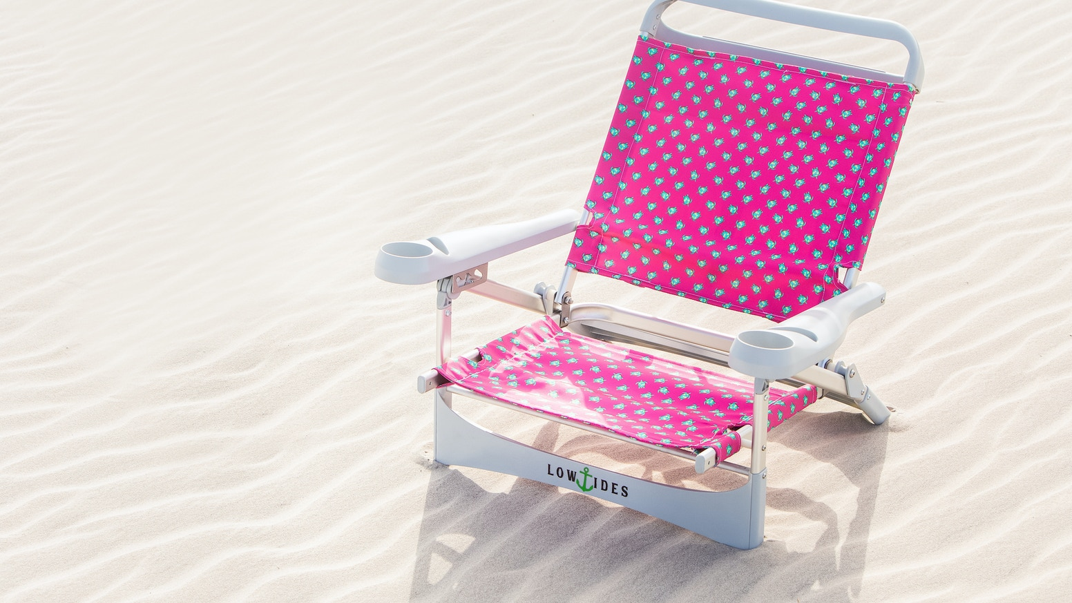 Sit Back, Save the Ocean.  Its simple.  A Beach Chair built with 3 lbs of Ocean Plastics.  Make the change for Cleaner Tides.