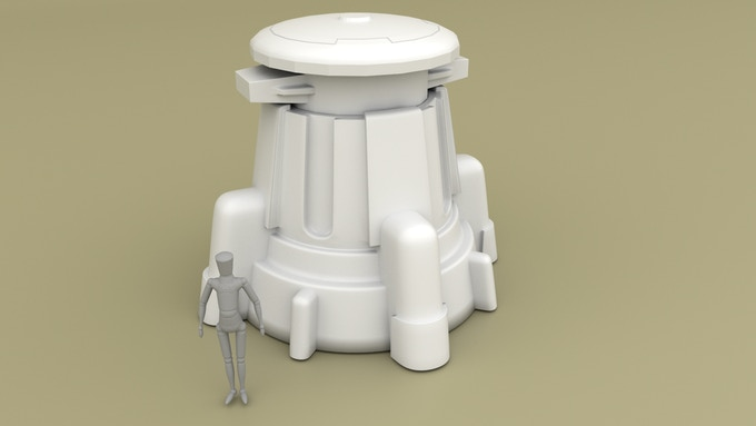 Weapons Turret (designed to be used with magnetized weapons from plastic kits)