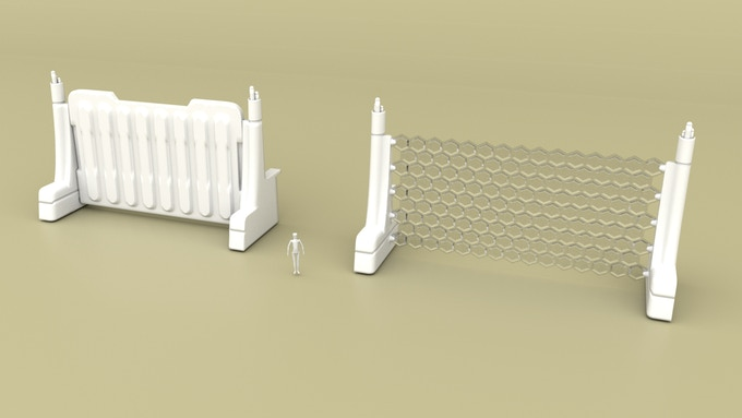 Main Gates (one armored gate and one energy gate) The energy gate in rendered in clear material to give you an idea of what it may look like if printed in a clear material