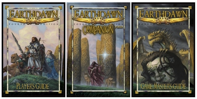 Earthdawn Core Book Covers