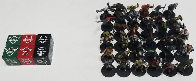 6 Creature Dice = 36 Standard Miniatures