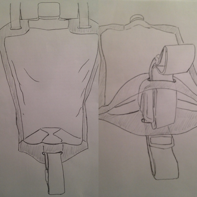 When I got home, I started sketching and the idea slowly took shape...