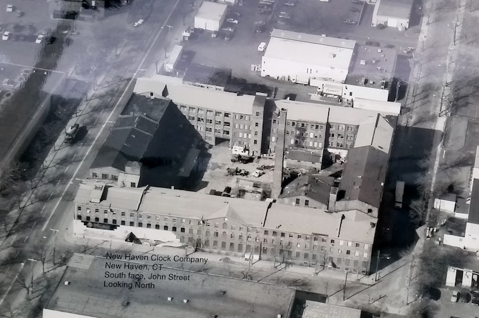 The New Haven Clock Factory Buildings in the late 1980s