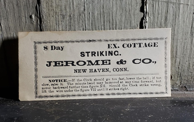 Jerome & Co. label from 1890s