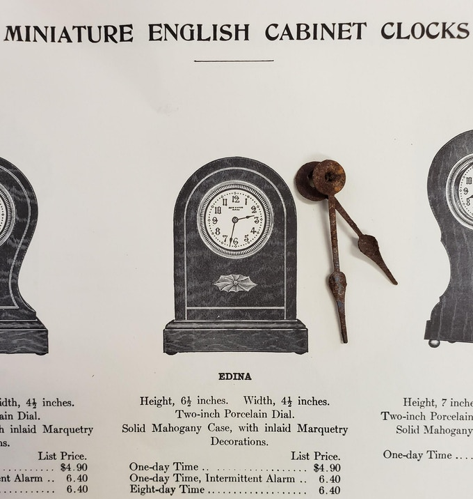 New Haven cabinet clock hands