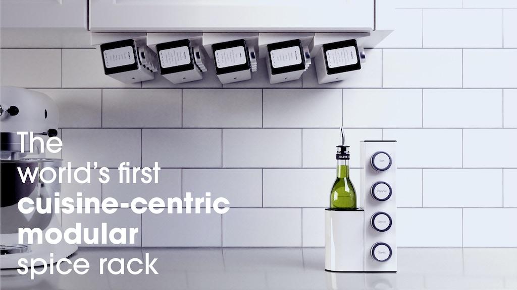 狭いキッチンスペースを有効活用するだけでなく、収納や使い勝手も最高なスパイスラック「Chef Caddy」