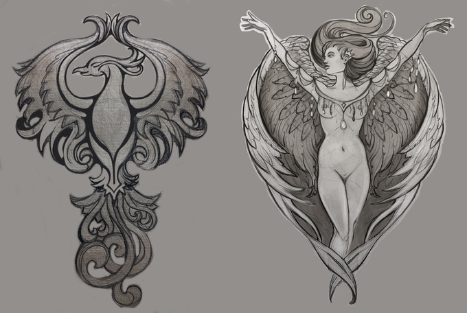 Two different designs for the Phoenix Pin