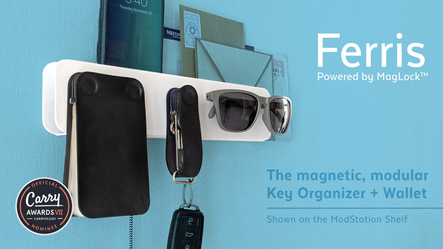 The best key organizer is part of the life-tidying Ferris System! Modular, magnetic everyday items streamline your out-the-door routine