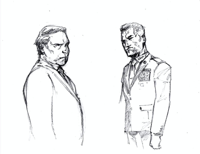 McKeen & Forley Character Sketches by Danny Flores