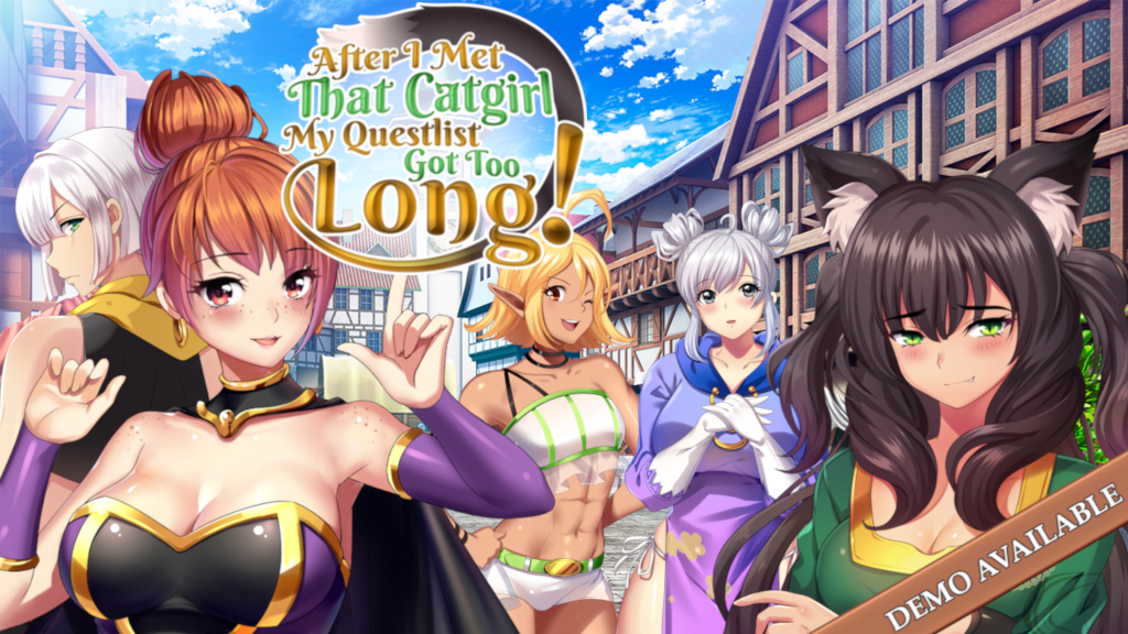 Update 26: February update — Progress with a capital P! · After I met that catgirl, my questlist got too long!