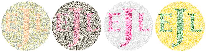Monogrammed IshiPrints in a few sample color patterns.